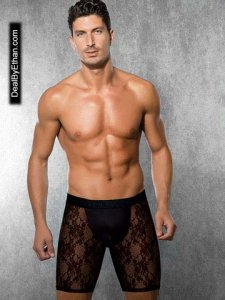 Doreanse Lace Long Boxer Brief Underwear Black 1953