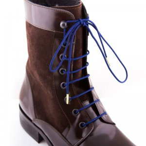 Bondi Laces Boot Laces Navy / Gold Tips BOOTBL4G