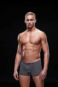 Envy Microfiber Boxer Brief Underwear Black/White E023