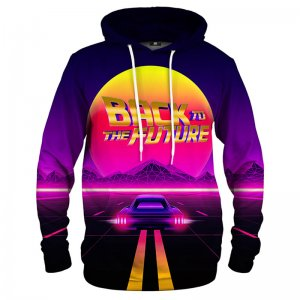 Mr. Gugu & Miss Go Back To The Future Unisex Pullover Kangaroo Hoodie HK1323