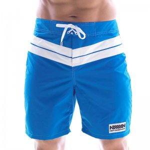 MIIW Physique Stripe Boardshorts Beachwear Royal Blue 4706-1...