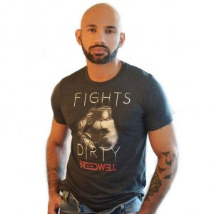Breedwell Fights Dirty Short Sleeved T Shirt Heather BW00527