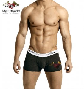 Big Roger Trunk Boxer Brief Underwear Grey BRU2102