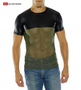 Go Softwear Hard Core Maverick Short Sleeved T Shirt Black/Olive 4196