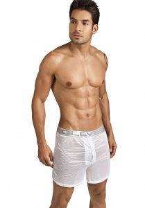 Clever Luxury Lounge See Through Shorts White 0303