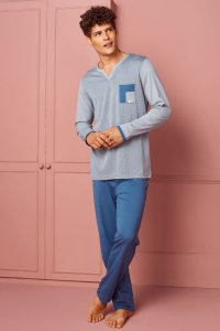 Doreanse Pocket V Neck Long Sleeved T Shirt & Pants Set Loun...