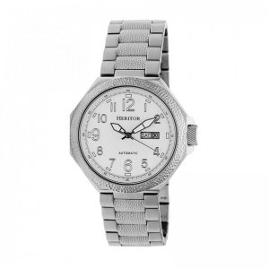 Heritor Automatic Spartacus Bracelet Watch w/Day/Date - Silver HERHR5401