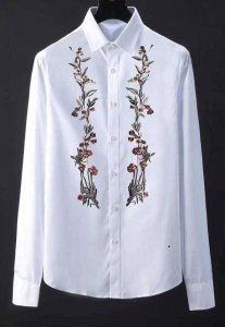 Spy Henry Lau Floral Embroidered Long Sleeved Shirt White PH...