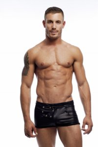 Go Softwear Sailor Snap Pleather Square Cut Underwear Black 2358