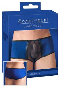 Svenjoyment Net Zipper with Ring Boxer Brief Underwear Royal Blue/Black 2131668