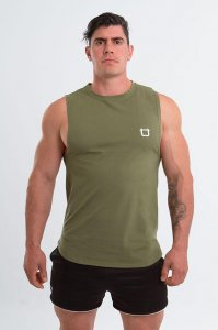 Twotags Charge Muscle Top T Shirt Khaki