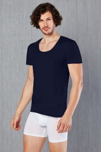 Doreanse Solid Short Sleeved T Shirt Navy 2525