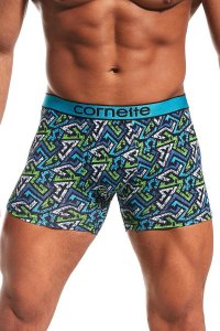 Cornette High Emotion Printed 508/78 Boxer Brief Underwear Navy Blue