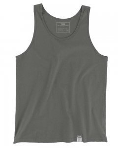 The Well Branded 100% Soft Airlume Cotton Classix Tank Top T Shirt Dark Charcoal