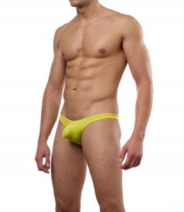 Cover Male Pouch Enhancing Thong Underwear & Swimwear Lime 202
