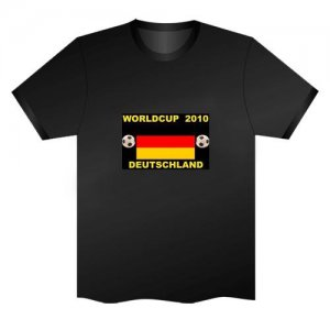 LED Electro Luminescence German Flag Funny Gadgets Rave Party Disco Light T Shirt Black 31776