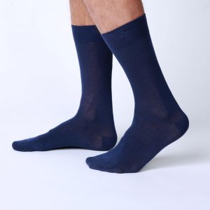 Bonne Cle Gentlemen's Club Chris Classic Socks Dark Blue