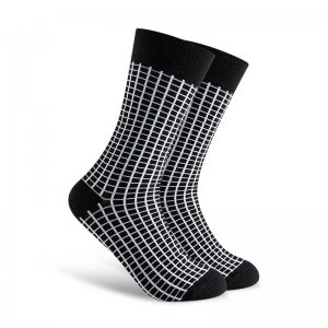 Curious Beaver Perfect Illusion Socks Checkers CBM