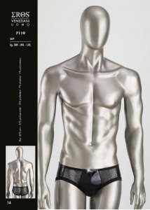 Eros Veneziani Mesh Brief Underwear Black 7119