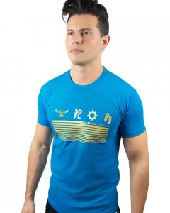 The Well Branded Iconography Basex Short Sleeved T Shirt Turquoise