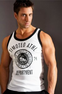 Timoteo Training Team Tank Top T Shirt White SM7187