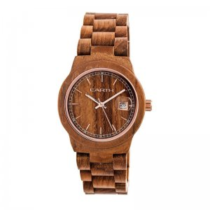 Earth Wood Biscayne Bracelet Watch w/Date - Brown ETHEW4205