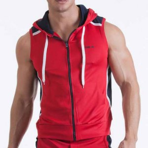 Code 22 Sleeveless Neo Hoody Sweater Red 9101