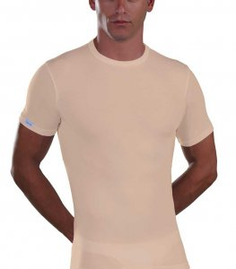 Lord Micromodal Short Sleeved T Shirt Beige 387