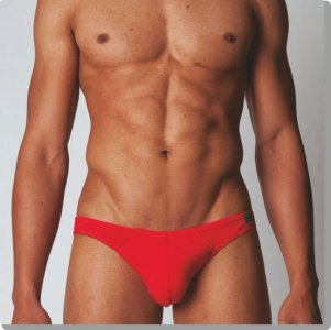 Modus Vivendi Colour Explosion Plain Mini Brief Underwear Red 11112