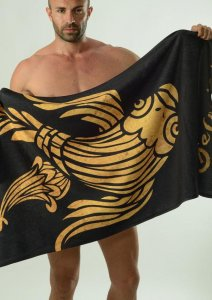 Geronimo Towel Black/Gold 1609X1-1