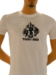 Tom Of Finland Kake Short Sleeved T Shirt White