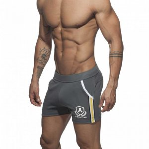 Addicted Intercotton Tight Shorts Charcoal AD337