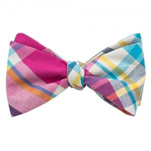 Ulterior Motive Curacao Sling Bow Tie Pink/Turquoise/White/B...