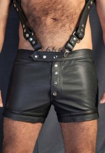 Kristen Bjorn Leather II Shorts Black