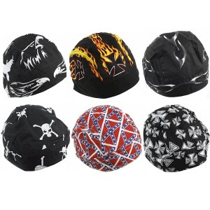 DBE 6pc Cotton Skull Hats DBESKULLCAP6