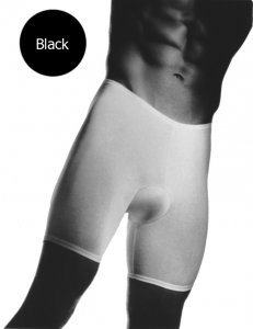 Andiamo! Padded Skins Long Boxer Brief Underwear Black 1112