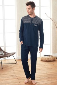 Doreanse Chevron Henley Long Sleeved T Shirt & Pants Set Lou...