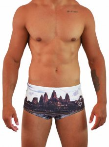 Project Contraband Angkor What Square Cut Trunk Swimwear