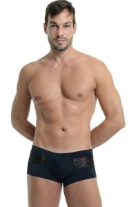 L'Homme Invisible Windows Picasso Mini Boxer Brief Underwear Black MY18-PIC-001