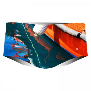 Project Contraband Row Row Your Boat Square Cut Trunk Swimwear