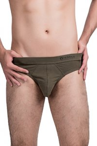 Nukleus [2 Pack] Heart Collection Follow Your Heart Mini Brief Underwear Army Green N-UE-06