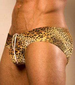 Cocksox Extreme Boy-Leg Brief Bikini Swimwear Leopard CX79LPR