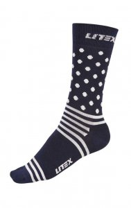 Litex Designer Patterned Socks Dark Blue/White 99663