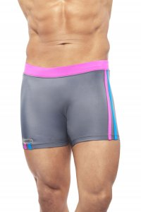 Narciso Square Cut Trunk Swimwear NATAL GREY/PINK