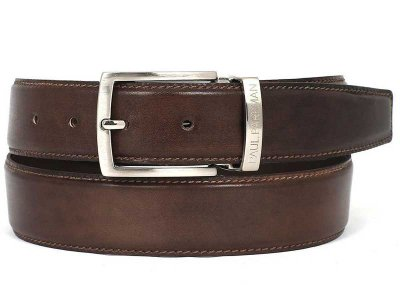Paul Parkman Hand Painted Leather Belt Brown B01-ANTBRW