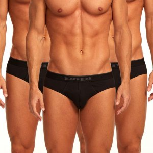 Papi [3 Pack] Cotton Stretch Low Rise Brief Underwear Black 980403