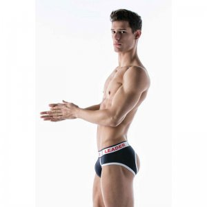 Leader Barcelona Anchor Bottomless Jock Brief Jock Strap Und...