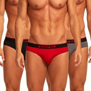 Papi [3 Pack] Cotton Stretch Low Rise Brief Underwear Red 980403