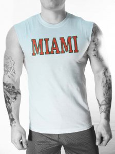 Whittall & Shon Miami Muscle Top T Shirt White CP353