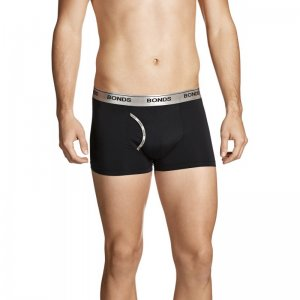Bonds Microfibre Guy Front Trunk Underwear Black MZAQ1A
